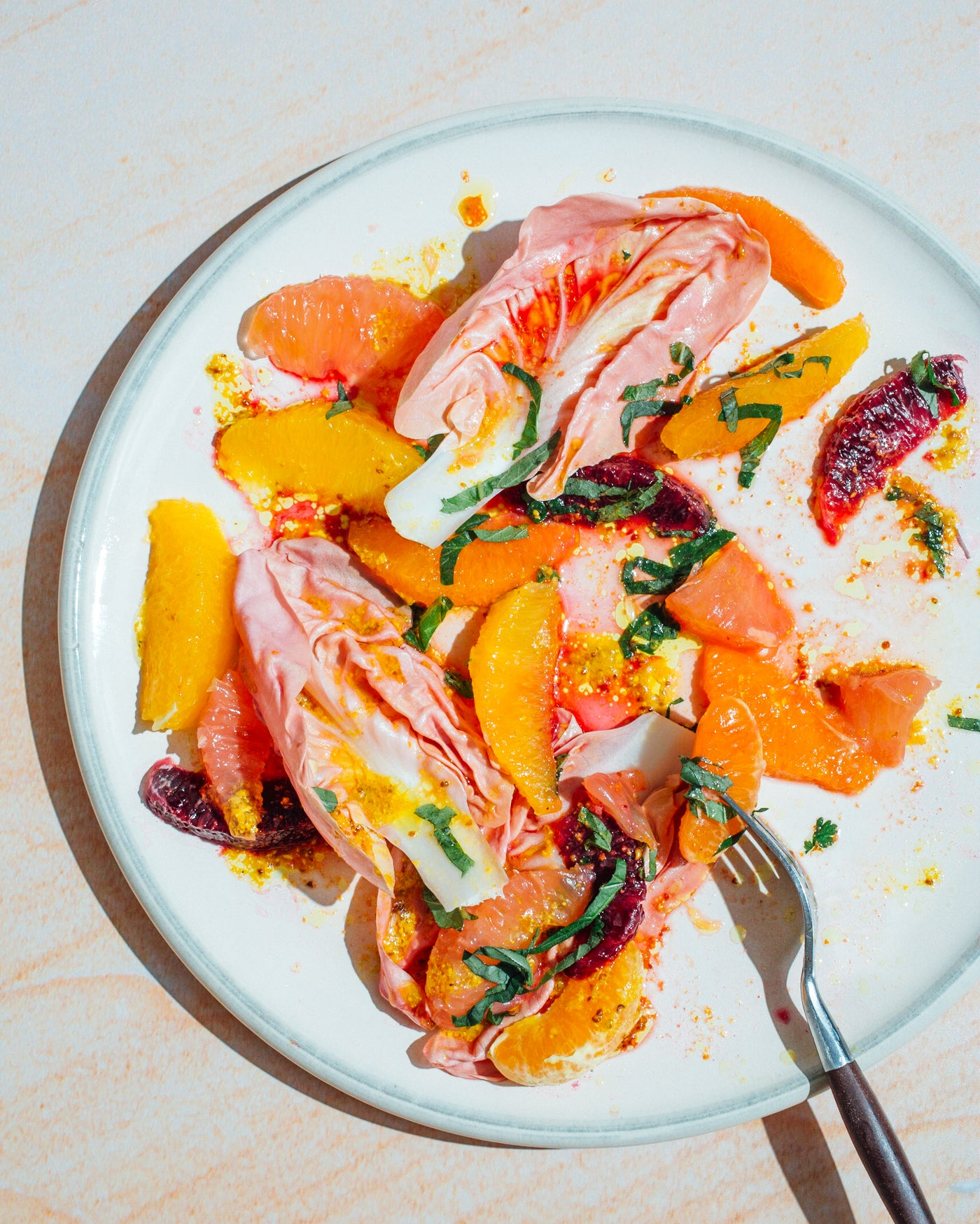 Citrus Salad with Pink Lettuce {Recipe}