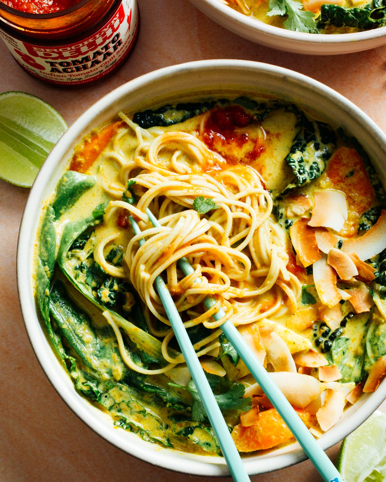 Golden Coconut Curry Noodle Soup {Recipe}