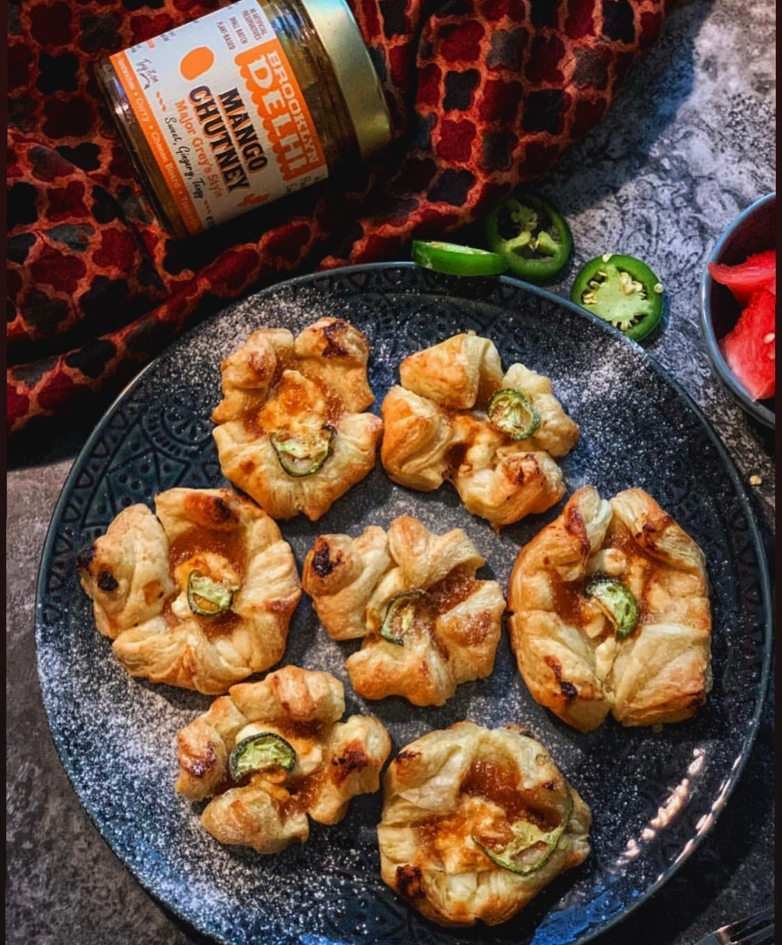 Mango Chutney, Goat Cheese & Jalapeno Pastries {RECIPE}