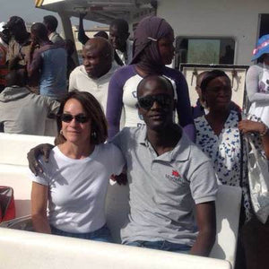 Boat Ride with Partners In Senegal