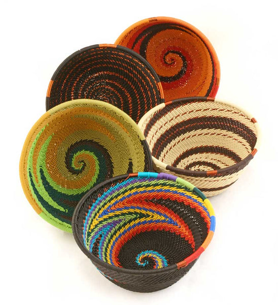African Telephone Wire Baskets
