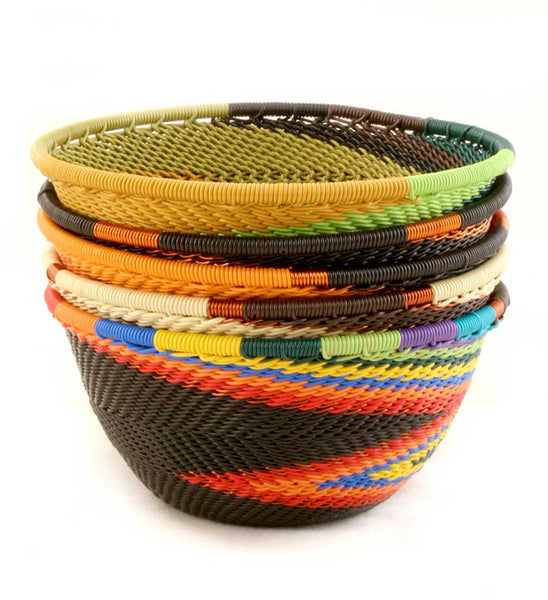 African Telephone Wire Woven Baskets
