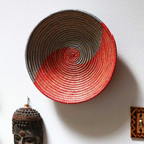 African Wall Baskets Woven Baskets From Swahili Modern