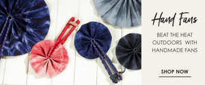 Hand fans: beat the heat outdoors with handmade fans