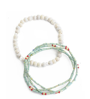 The Leakey Collection zulugrass bracelets, fair trade from Kenya
