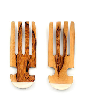 Wooden salad servers, handcarved by artisans in Kenya
