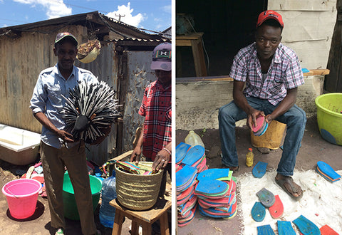 Flip flop artisans in Nairobi workshop