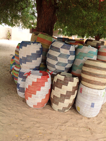 Senegalese hampers with modern designs. http://www.swahilimodern.com/