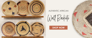 Authentic African wall baskets | fair trade African baskets, tonga Makenge baskets