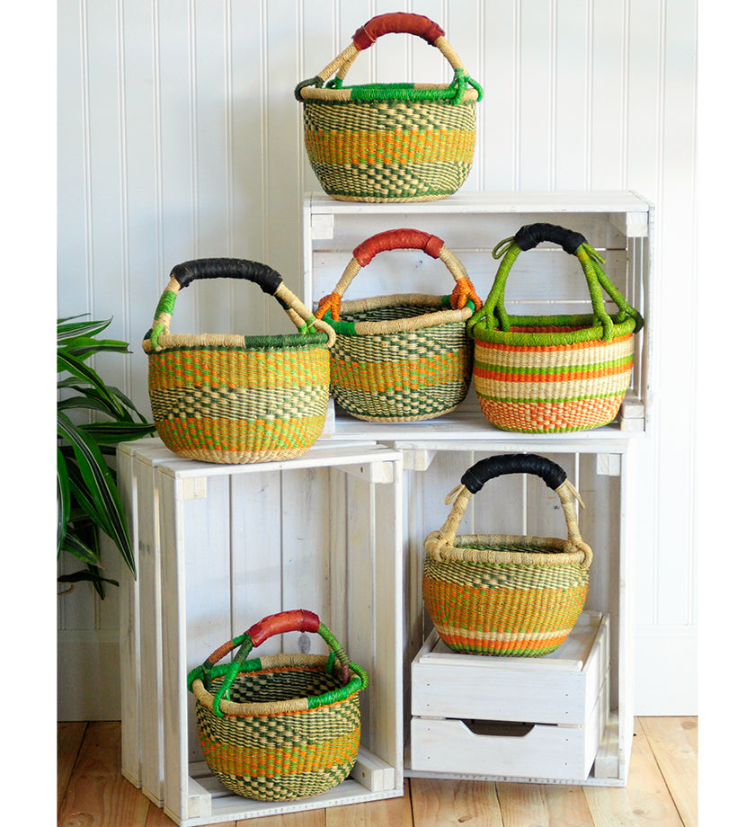 Squash Blossom Baby Bolga Baskets from Ghana