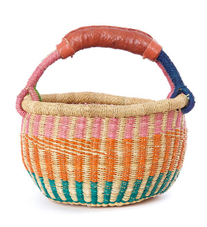 Multicolor Baby Bolga Basket from Ghana