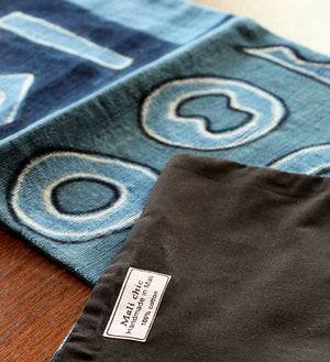 African Indigo Mudcloth Table Runner - Home Decor Handmade in Africa - Swahili Modern - 3