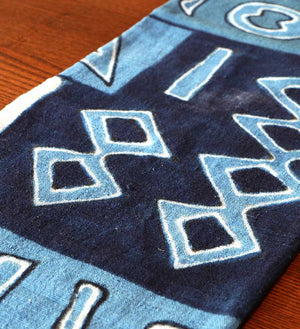 African Indigo Mudcloth Table Runner - Home Decor Handmade in Africa - Swahili Modern - 2