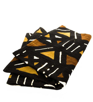 Hand-Dyed African Mudcloth Blanket - Home Decor Handmade in Africa - Swahili Modern - 4