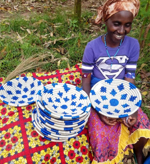 Rwandan Sisal Honeycomb Baskets