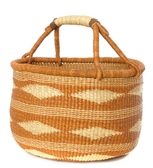 Maple Diamond Handwoven Bolga Basket