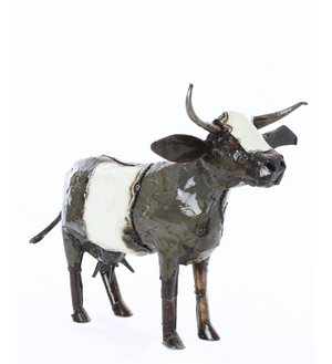 Recycled Oil Drum Milk Cow Sculptures