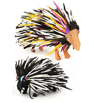 Comical Porcupine Flip Flop Sculpture