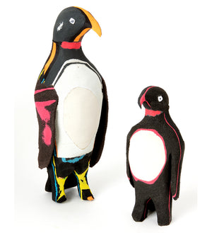 Earnest Penguin Recycled Flip Flop Sculpture