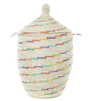 Vanilla Sugar Swirl Large Hamper Basket