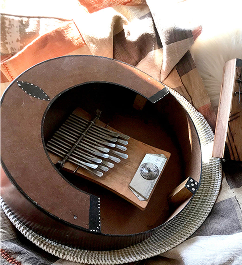 Zimbabwean Drum Mbira with 15 Notes
