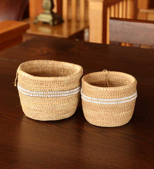 Traditional Doum Palm Baskets - Basket Handmade in Africa - Swahili Modern - 2