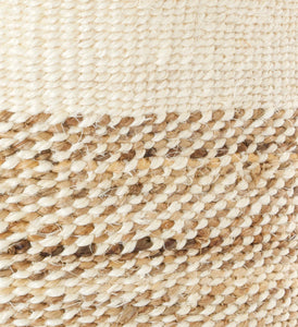 Tall Natural Sisal and Banana Fiber Basket