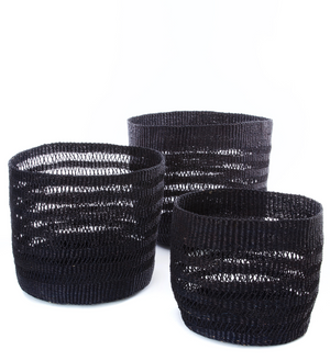 Set of Three Raven Veta Vera Lace Bins