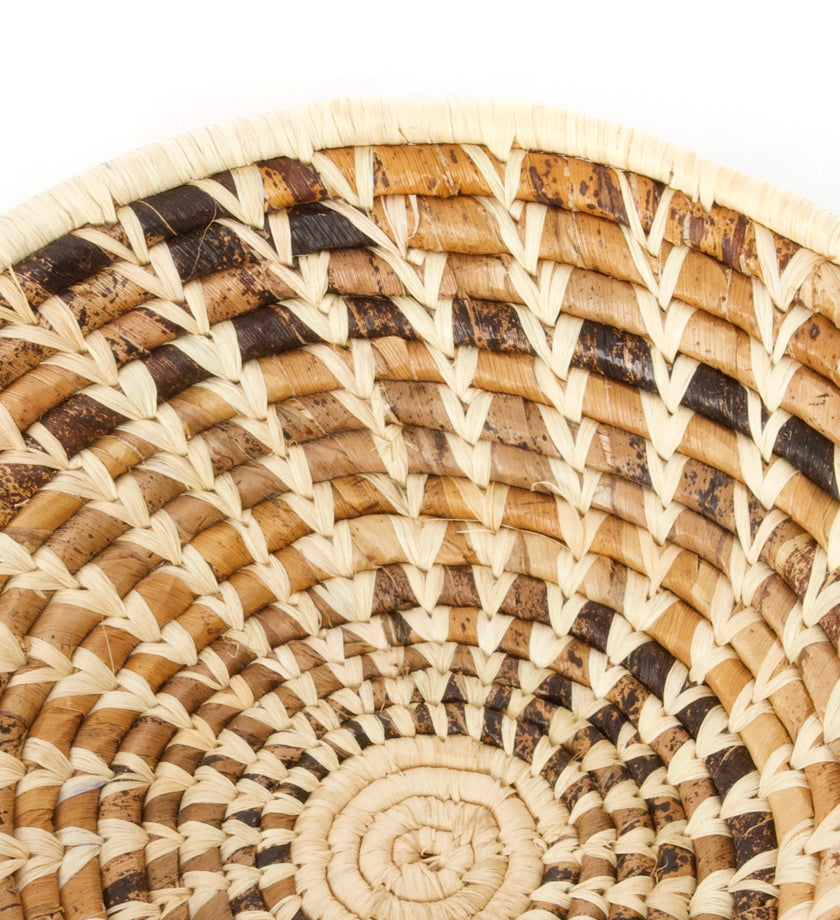 All Natural Raffia & Banana Leaf Sata Basket