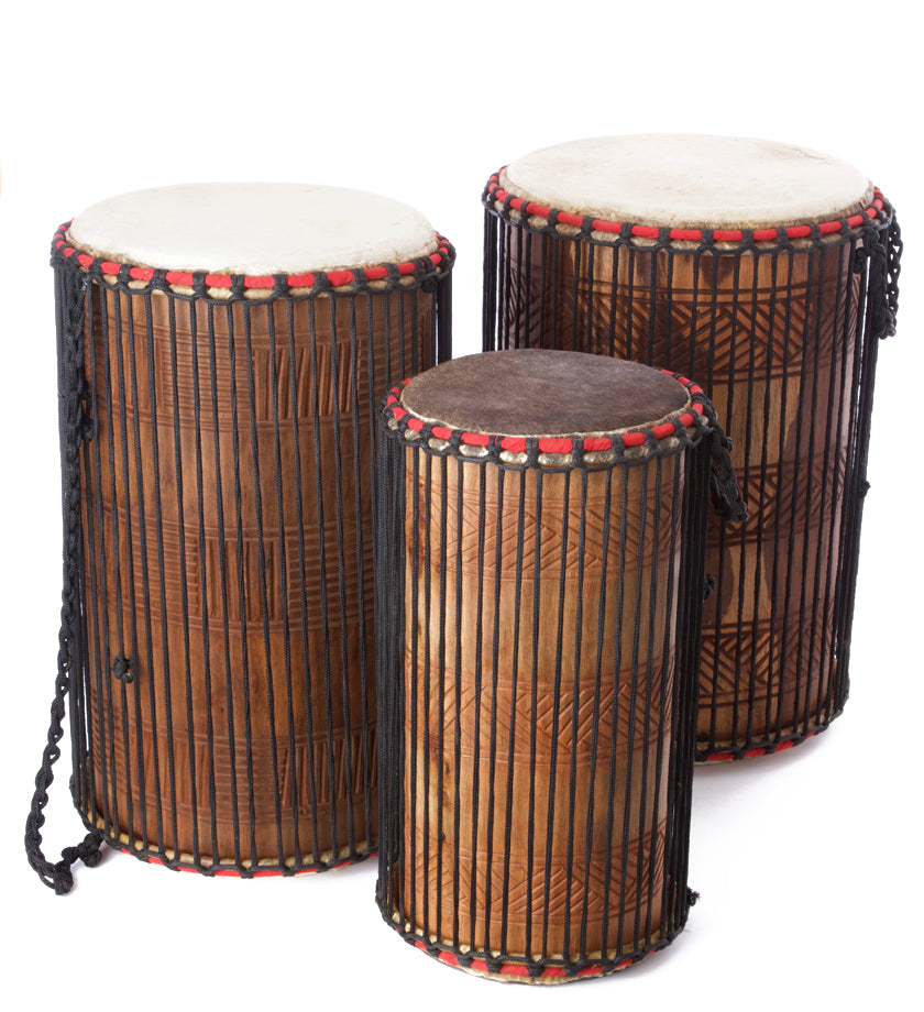 Limited Edition Ghanaian Dundun Drums