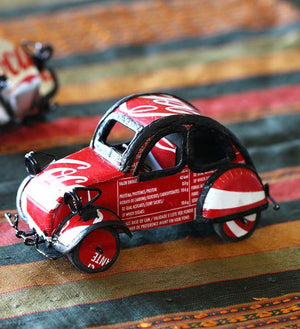 Repurposed Pop Can Car Sculptures from Senegal