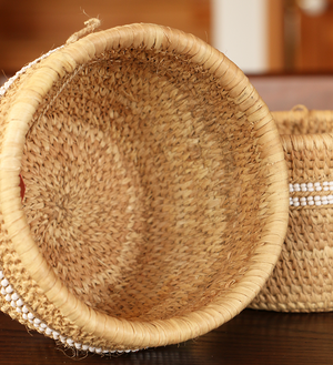Traditional Doum Palm Baskets - Basket Handmade in Africa - Swahili Modern - 4