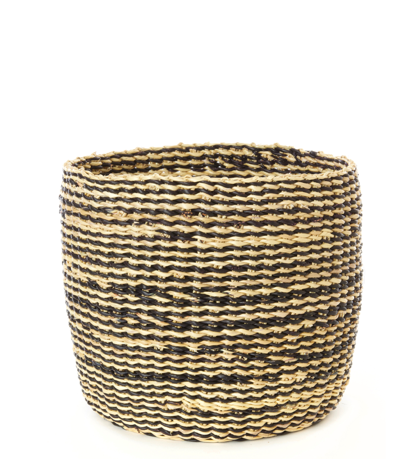 Set/2 Striped Veta Vera Grass Nesting Baskets