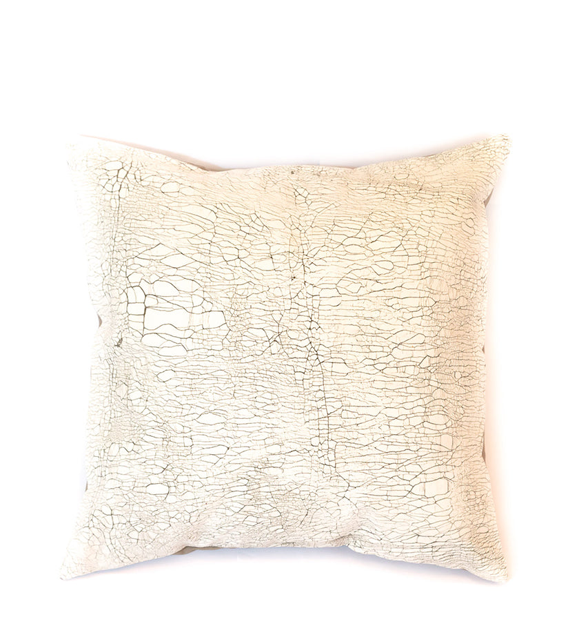 Hand Painted Animal Print Pillow in Elephant Crackle