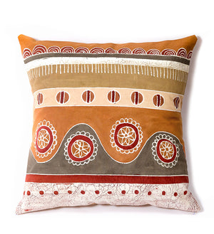 Hand Painted Rolling Hills Pillow in Sienna