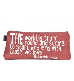 "Coral ""Those We Love"" Nelson Mandela Pouch"
