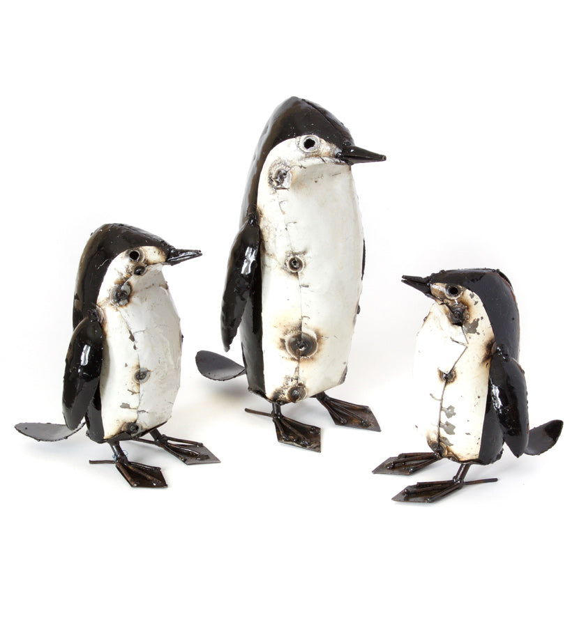 Penguin Pals Oil Drum Sculptures