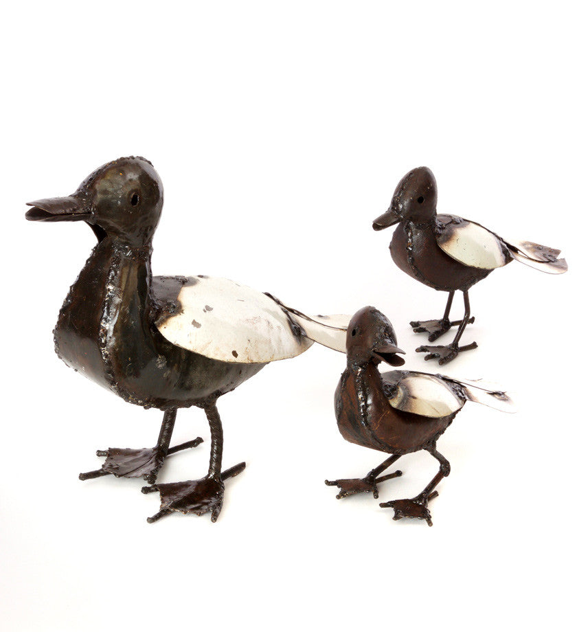 Recycled Metal Duck Sculptures