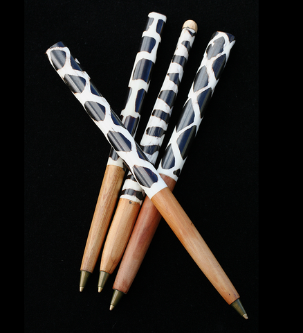 Refillable Cow Bone Pen - Fair Trade Gifts Handmade in Africa - Swahili Modern - 2