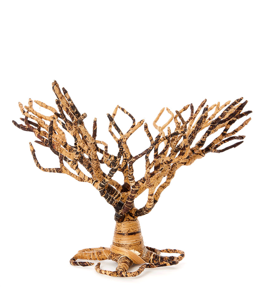 Acacia tree handcrafted from all-natural banana fiber.  Handmade in Africa.