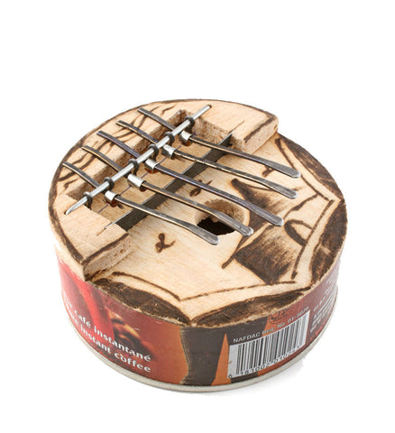 Recycled Round Tin Kin Kalimba - Fair Trade Gifts Handmade in Africa - Swahili Modern - 1