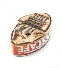 Recycled Nescafe African Kalimba - Fair Trade Gifts Handmade in Africa - Swahili Modern