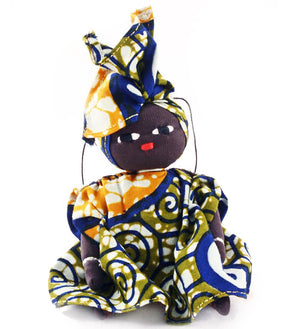 Set/2 Burkina Baby Doll Holiday Ornaments