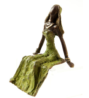 Enchanted Beauty Burkina Bronze Sculpture