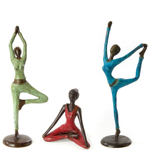 Half Lotus Yoga Pose Bronze Sculpture