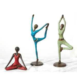Yoga Tree Pose Bronze Sculpture