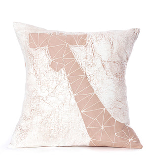 Hand Painted Pink Giraffe Dry Season Pillow
