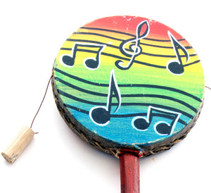 Musical Notes on Rainbows Hand Drums - Sets of 2