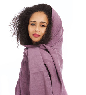 Plum Ethiopian Cotton Gabi Body Shawl
