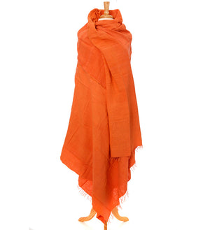 Tangerine Ethiopian Cotton Gabi Body Shawl